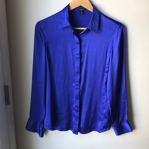 Ann Taylor silk blouse Blue Size 10